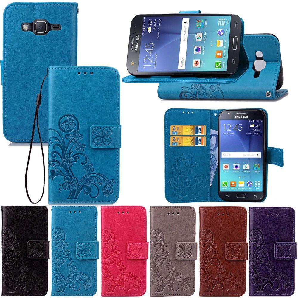 Для Samsung Galaxy J7 Neo искусственная кожа магнитный флип стенд бумажник карты чехол