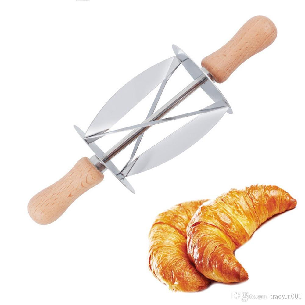 10pcs Dough Rolling Cutter Knife Croissant Bread Maker Mold Cookie Pastry Cutter Kitchen DIY Cake Decorating Tool Bakeware