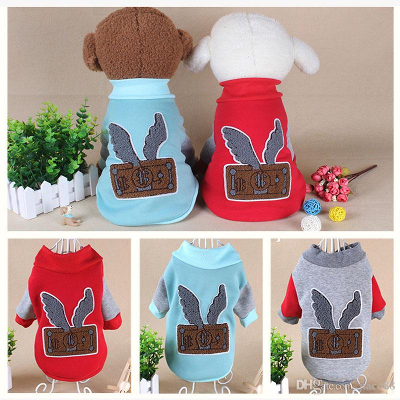 Dog Pet Clothes Autumn Winter Clothing Puppy Sweater Dog Coat Warm Sweatshirt Shirt Jacket Supplies DHL Free