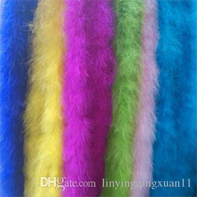 25g 2m / pc 8-10 cm Larghezza Turchia Fluff Strip Full-fleece Boa Buon compleanno PaFluffy Boa Birthday Party Decorazioni di nozze Forniture