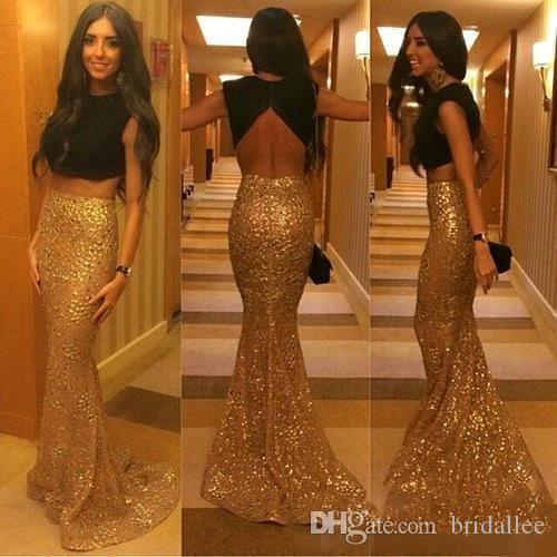 Элегантные из двух частей платья выпускного вечера Jewel Backless Русалка Вечерние платья Длинные abendkleider