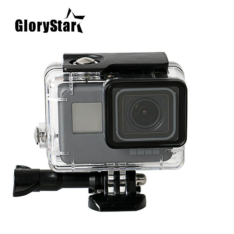 Tempered Glass Waterproof Diving 150ft Housing Protector Case Cover For Gopro Hero 6 5 Action Camera Go Pro Accessories