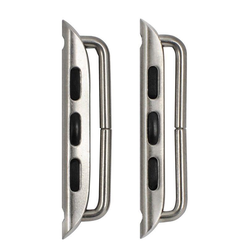 Für Apple Watch-Serie 6 5 4 SE-Edelstahl-Adapter 40mm 44mm Metallband-Stecker-Armbandband + Schraubendreher (Werkzeug) 20pairs / lo