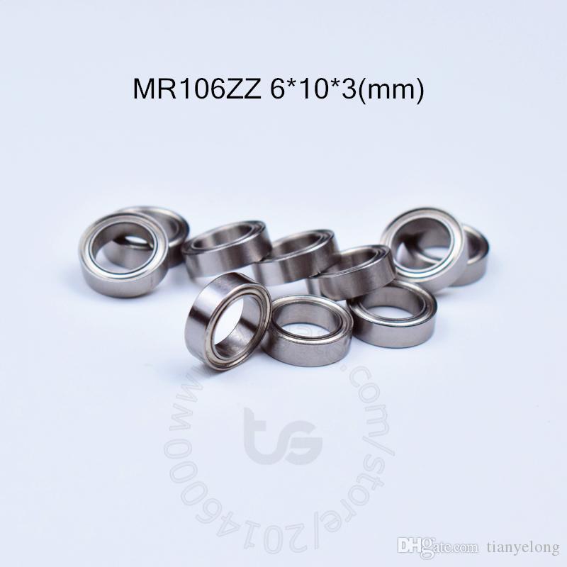 10 PCS MR106ZZ Bearing ABEC-1 6*10*3 mm Miniature MR106  ZZ Z Ball Bearings