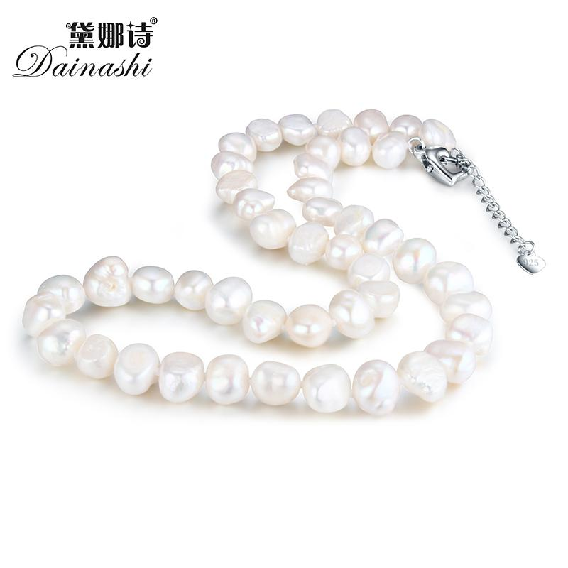Dainashi hot sale 925 sterling silver natural irregular pearl nacklaces with high quality fine jewelry for women wedding gifts Y1892805