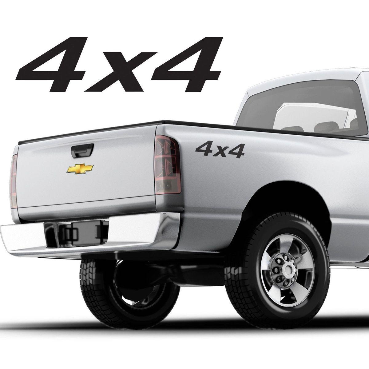 Compre Para 2 Piezas Calcomanias De Camionetas 4x4 Diseno Simple Para Cualquier Camioneta Conjunto De 2 Chevy F 150 A 3 8 Del Redchinatown Dhgate Com