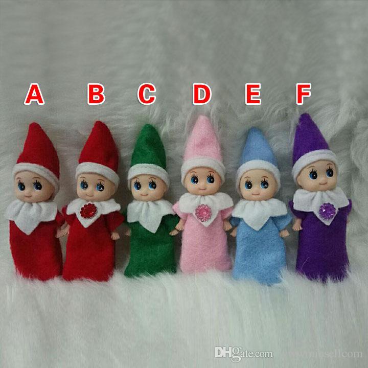 크리스마스 아기 요정 인형 봉제 인형 귀여운 소년 소녀 엘프 봉제 인형 아이 어린이 XMAS 장난감 장식 선물