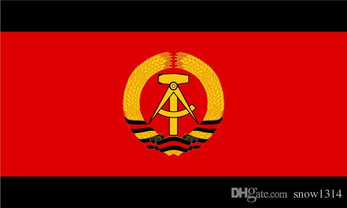 Komünist Prusya Bayrağı Afiş 150 CM * 90 CM 3 * 5FT Polyester Özel Banner Spor Bayrak