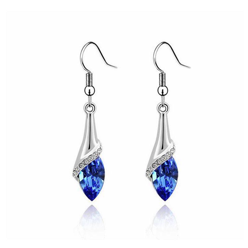 Original Kristall Swarovski Klassische Ohrringe Strass Hanging Pendientes Schmucksachen für Frauen Geschenk der Mutter Tages