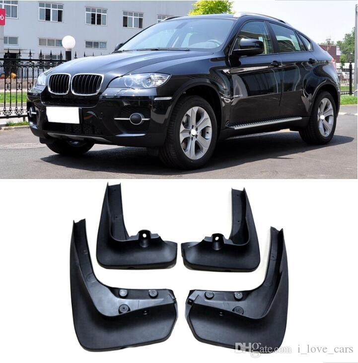 OEM STYLED MUD FLAP FIT FÜR BMW X6 E71 2008 2009 2010 2011 2012-2014 MUD FLAPS SPLASH GUARD FRONT REAR FENDER ACCESSOIRES FORMED