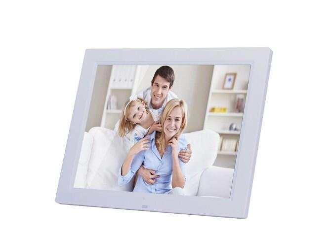 14 '' إطارات الصور الرقمية LED LCD الأفلام الرقمية MP3 المنبه إطار الصورة صورة مع وحدة تحكم عن بعد