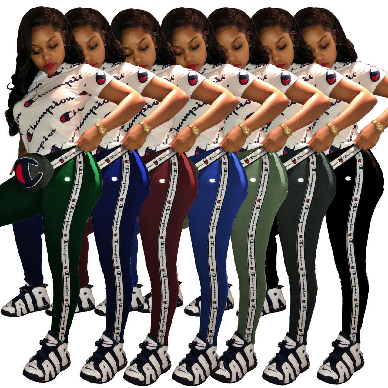 Letter Print 2 Two Piece Set top e pantaloni lunghi Donna Tuta 2018 Spring Plus Size Casual Out Felpa Fashion Felpe Hottest