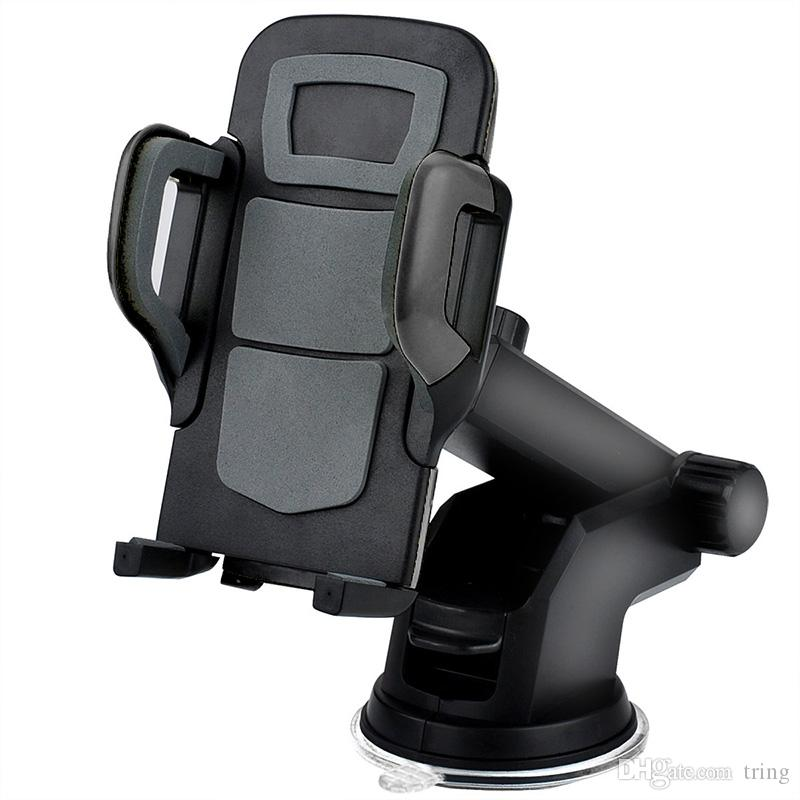 Car Mount Mobile Smart Phone Holder Handfree Dashboard Phone Metal Stand For Cellphone iPhone 7 6 Samsung S8