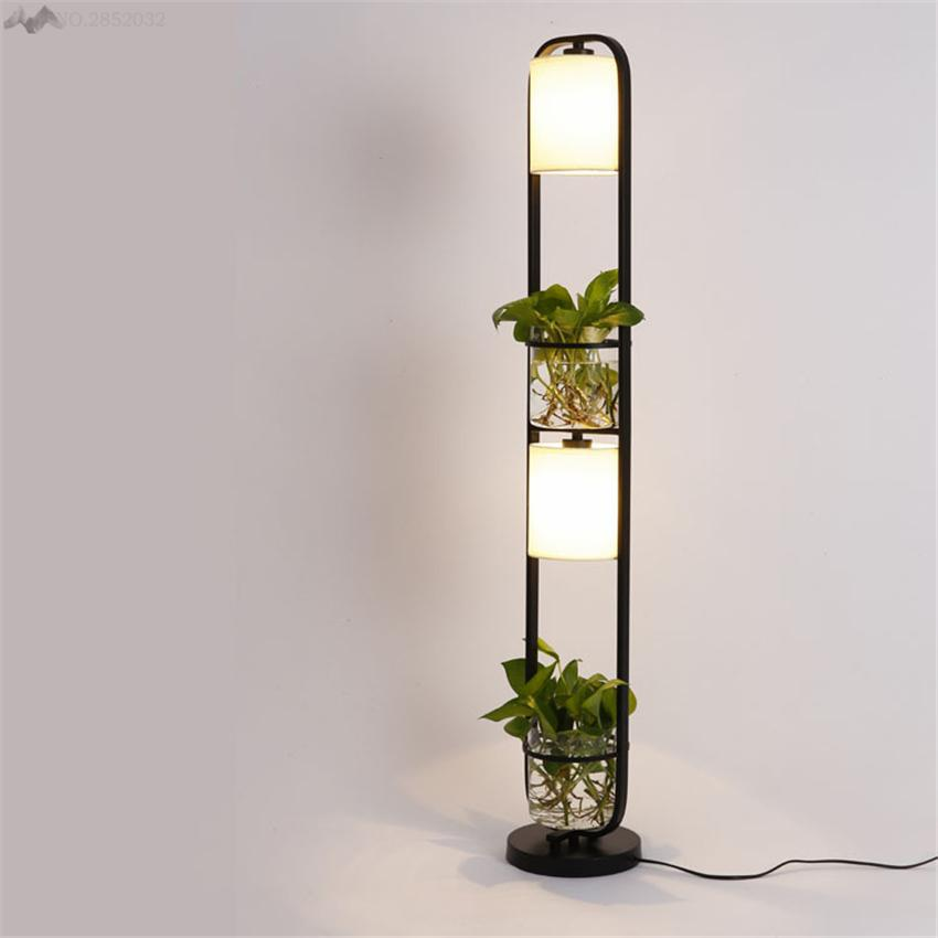 first rate eb78a aca2f 2019 Modern Art Creative Plants Floor Lamp Plasscloth Standing Light For  Living Room Office Cafe Restaurant Lanterns Lighting Decor From Goddard, ...