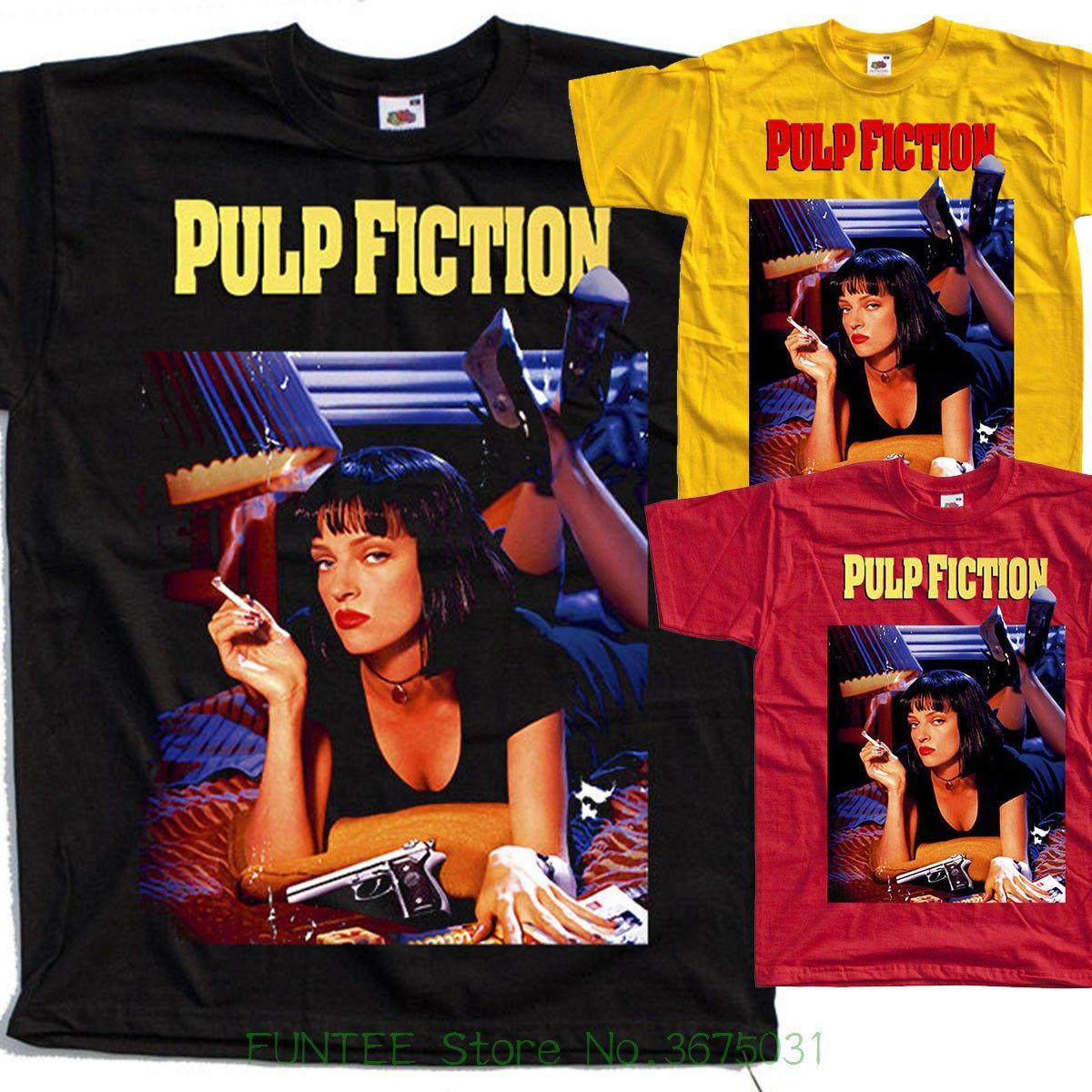 Novo 2018 Moda Verão Pulp Fiction, Cartaz, 1994, Quentin Tarantino T Camisa Todos Os Tamanhos S Para 5xl