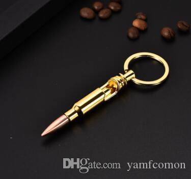 Bullet Shell Bottle Opener Beer Soda Gold Keychain Key Ring Bar Tool Man Gift