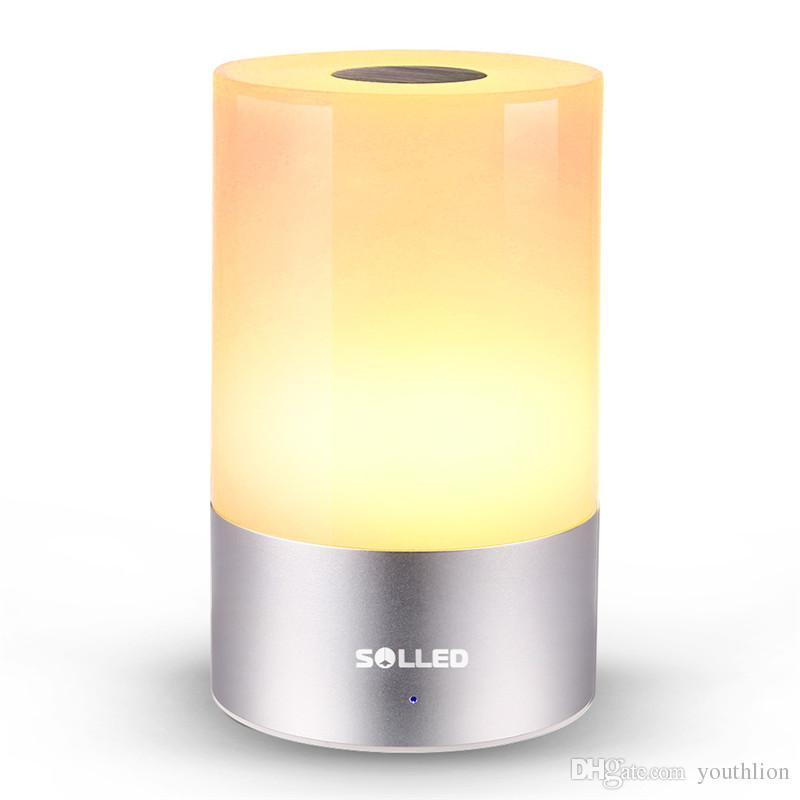 재충전 할 수있는 대기 분위기 빛 책상 테이블 램프 아기 방 침실을위한 Dimmable 온난 한 가벼운 접촉 감지기