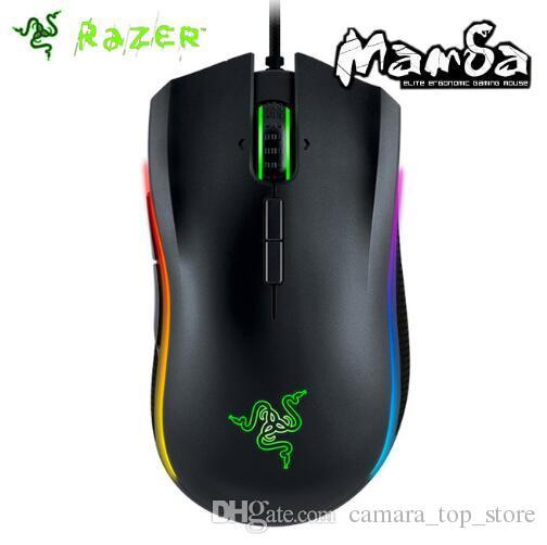 Orijinal Razer Mamba Turnuva Edition Kablolu Oyun Fare 16000 DPI 5G Lazer Sensörü Chroma Işık Ergonomik Oyun Fare