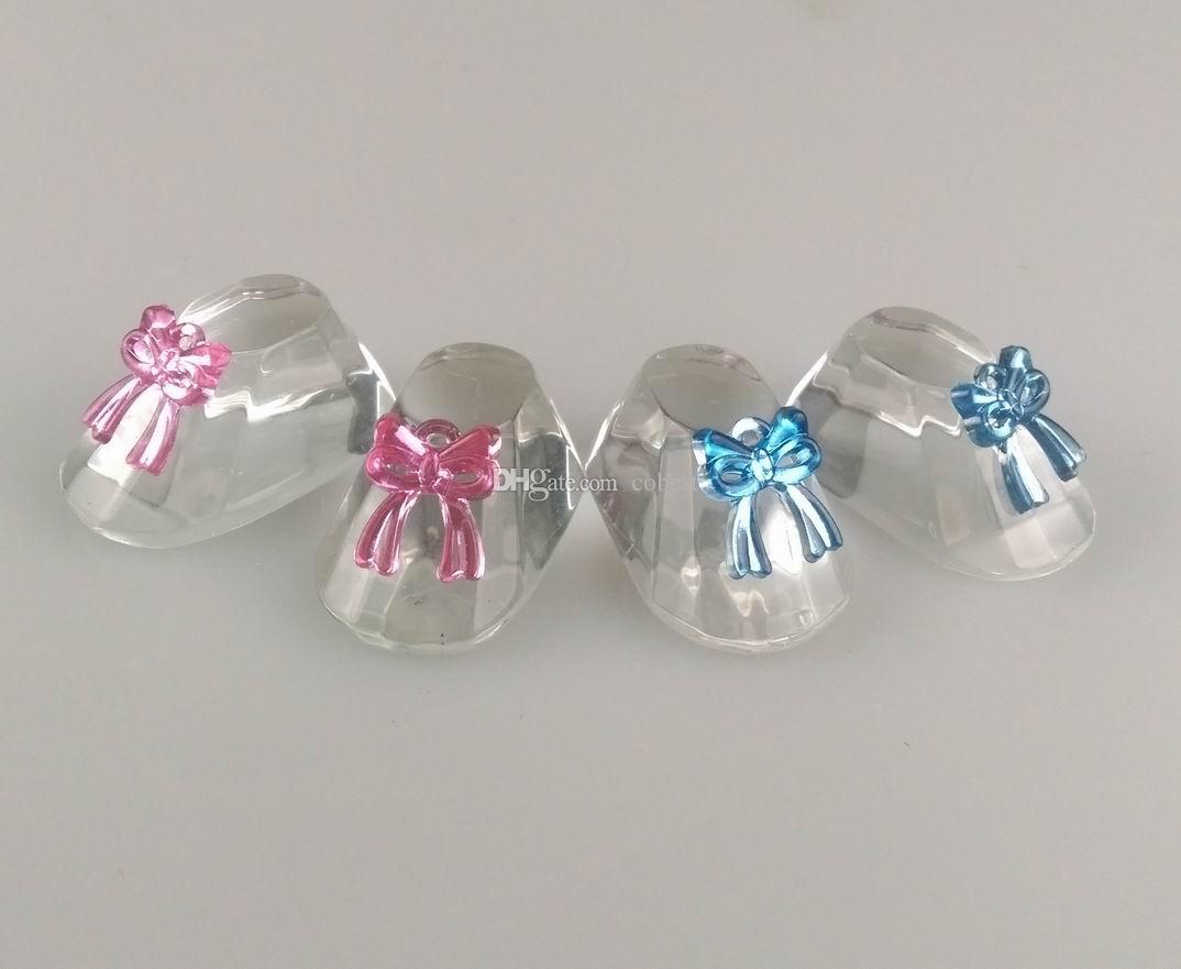 Baby Shower Decorations Crystal Baby Shower Favors Gifts Cute Baby Shoes Pink And Blue Wedding Party Favors Supplies Wedding Favor Mints Wedding Favor