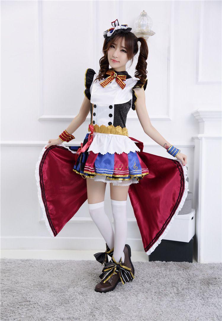 Compre Anime Lovelive Kotori Minami Waken Cafe Maid Uniforme Cosplay Disfraces Love Live Set Completo Vestido De Princesa Disfraz De Fiesta De Halloween A 46 48 Del Prime03 Dhgate Com