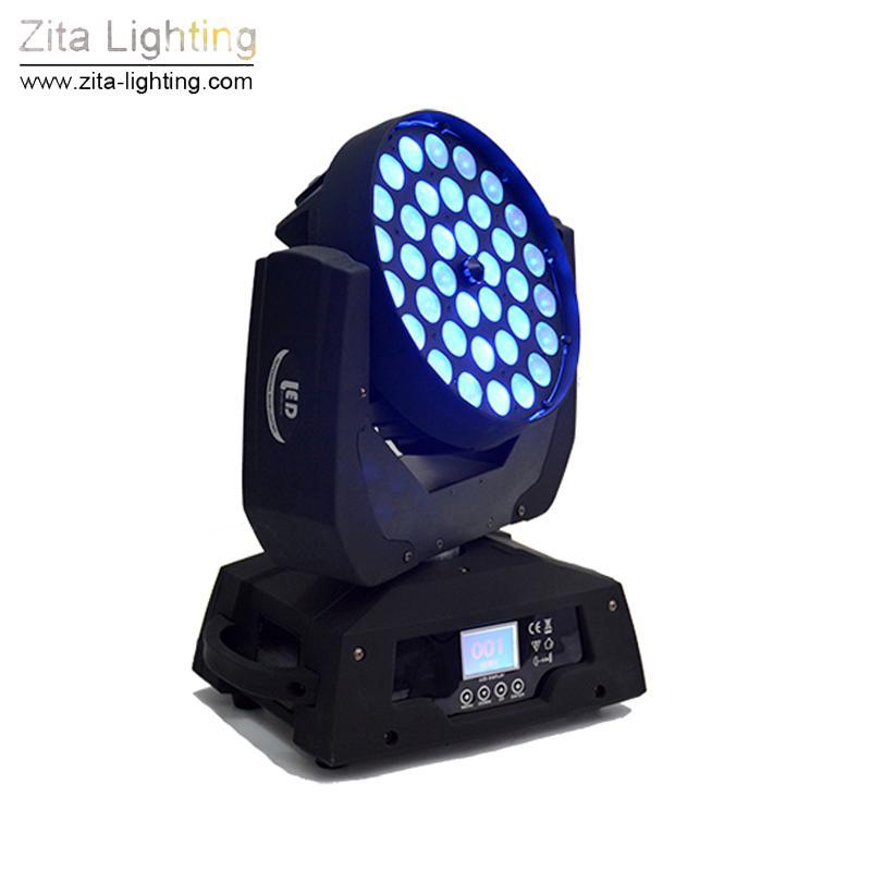 Zita Lighting 36 * 10W Zoom Moving Head luzes Wash Luz de Palco DJ Disco Wash Luzes DMX512 Partido Teatro Wedding Atmosfera Efeito de Luz