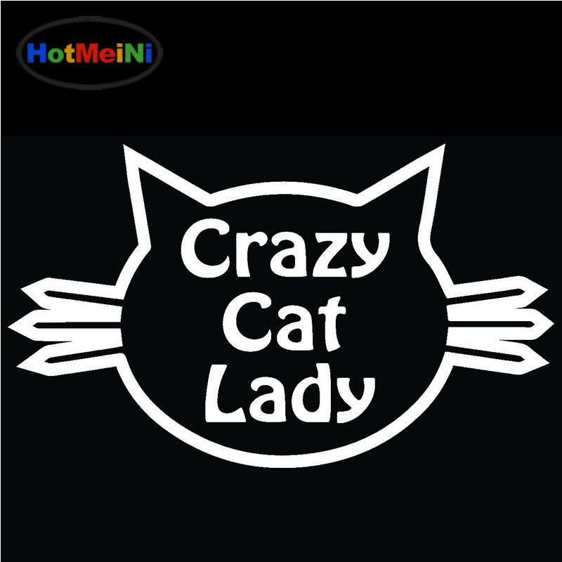 Not SO CRAZY CAT LADY Car Sticker Window Bumper Vinyl Decal Bedroom Wall Decor