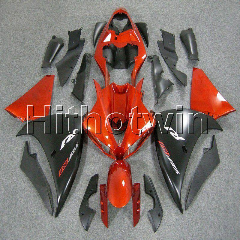 23colors + 8Gifts ABS arancione carenatura nera per Yamaha YZFR1 09 10 11 YZFR1 2009 2010 2011 plastica carrozzeria moto