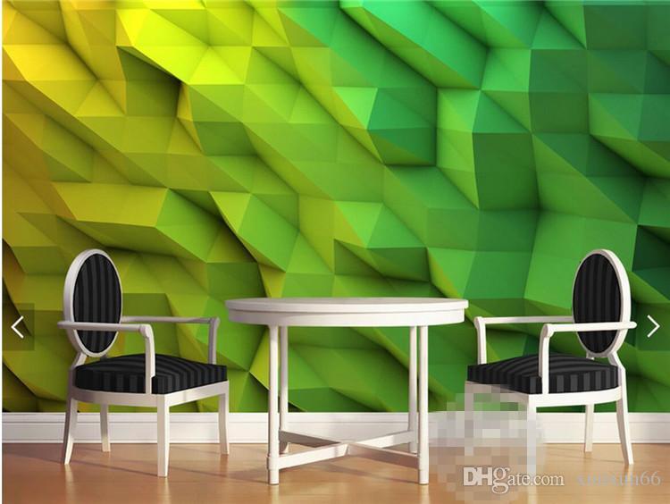 3d Wallpaper Abstract Photo Mural for Living Room Bedroom Wall Paper Rolls papel de parede 3d papel mural rollo Green Custom