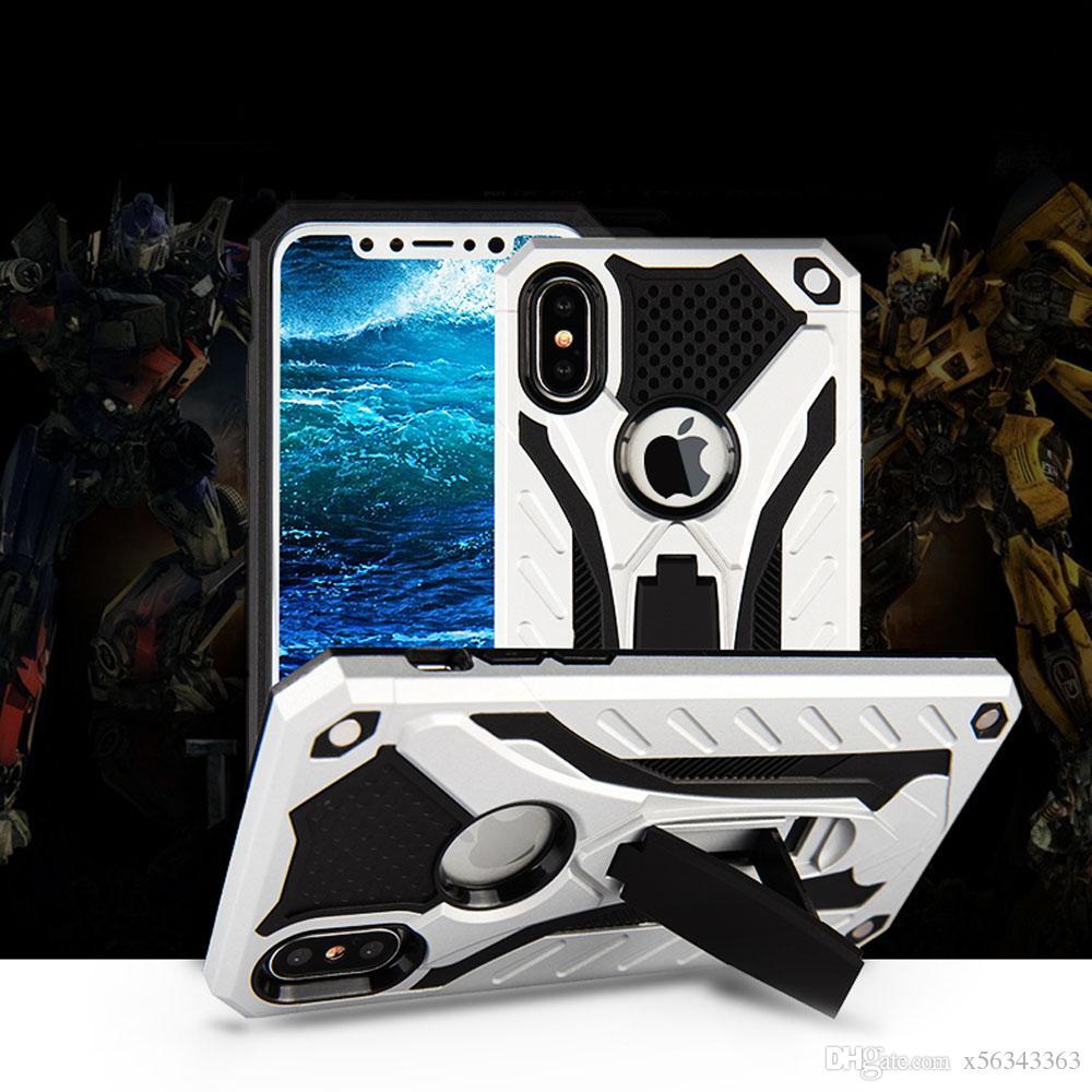 Hybrid Armor Kickstand Telefon Case dla iPhone X 8 7 6 Plus Case Phantom Knight Shockproof TPU + PC Samsung J530 J730 Przypadki