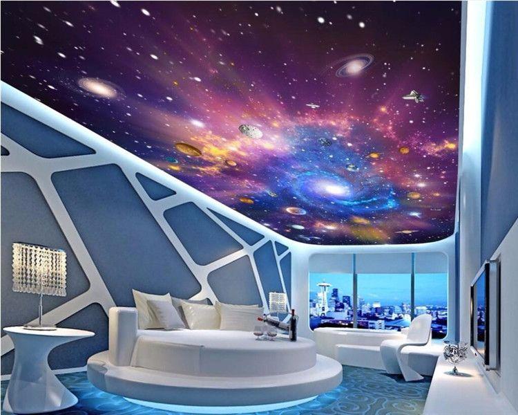 Custom 3d Ceiling Murals Wallpaper Home Decor Painting Starry Sky Universe Galaxy 3d Wall Murals Wallpaper For Living Room Best Hq Wallpapers Best