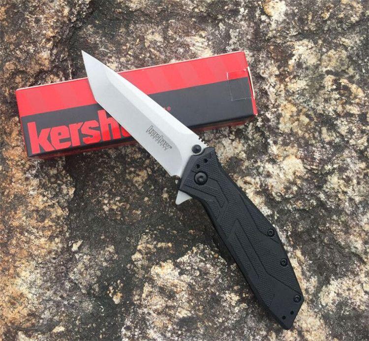 2 colori Kershaw Brawler 1990 Pocket coltello pieghevole assistito Tanto Blade G10 Maniglia caccia campeggio Gear coltelli tattici edc strumento