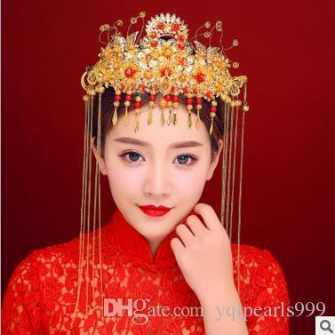 Yeni gelin düğün headdress kostüm Coronet