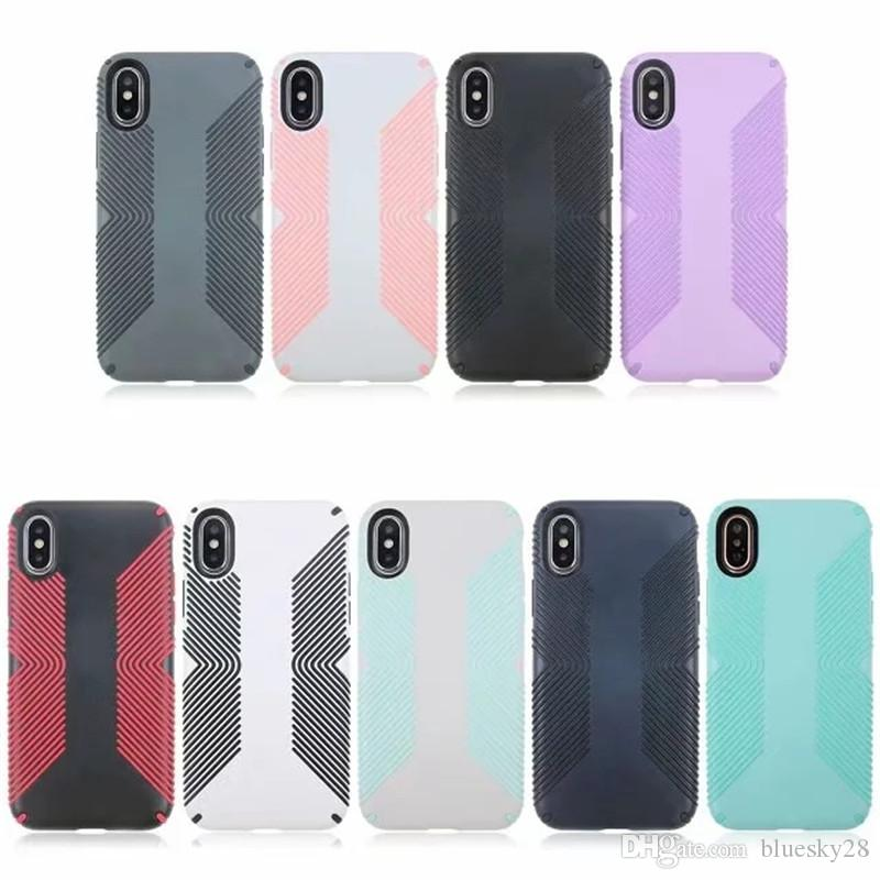 Stripe Defender Case for iPhone X 6S 7 8 Plus TPU Soft High Quality Fashion Case