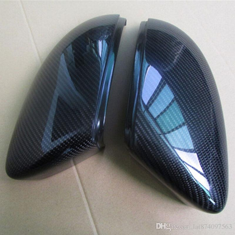 High quality 1:1 Carbon Rearview Mirror replacement for Volkswagen bettle Carbon fiber mirror Trim Cover