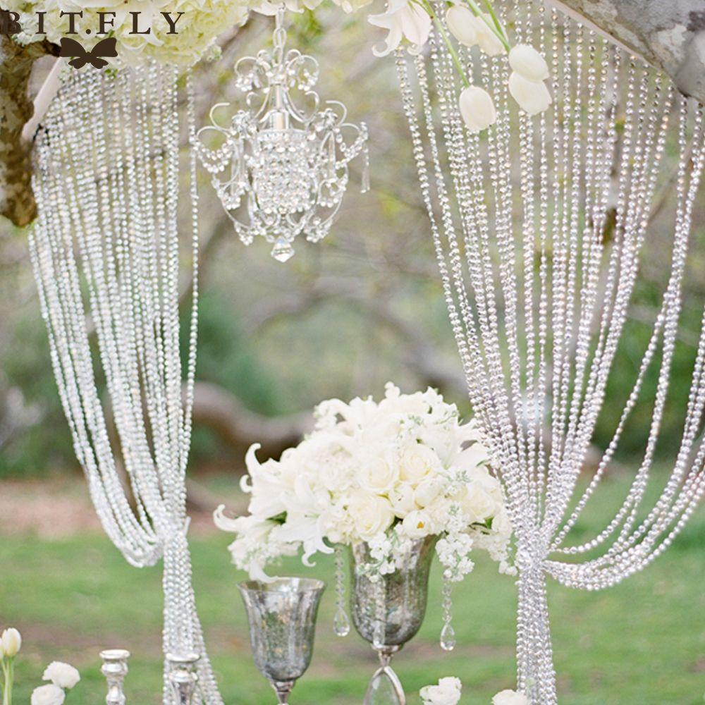 12mm *20Meter Crystal glass Beads Curtain strand Living room window Bedroom Door Curtain decorative Wedding party Backdrop DIY