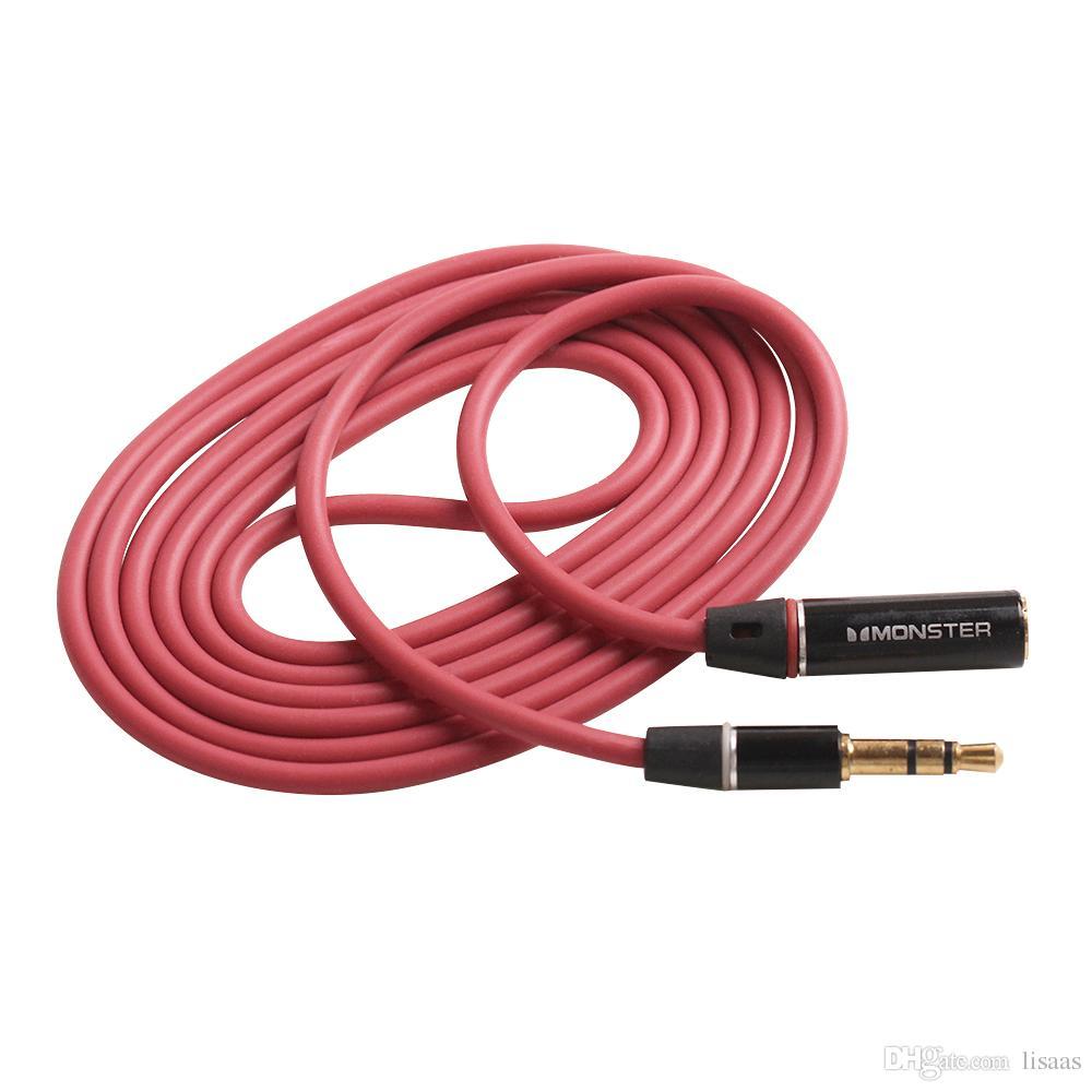1.2M AUX extensión alargada del auricular cable 3.5mm Macho a Hembra M / F Cable de Extensión de Audio de Auriculares Estéreo buena calidad 500 unids / lote