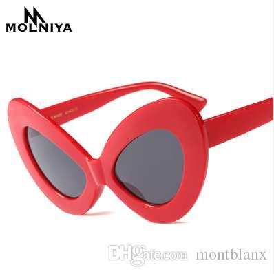 MOLNIYA 2018 Nuevo Gran Marco de Mariposa Gafas de Sol Mujeres Retro Rosa Leopardo Negro Vintage Red Cat Eye gafas de Sol para Mujeres UV400