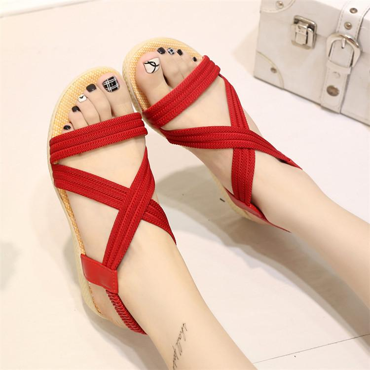 2018 New Fashion Red Sandals For Women