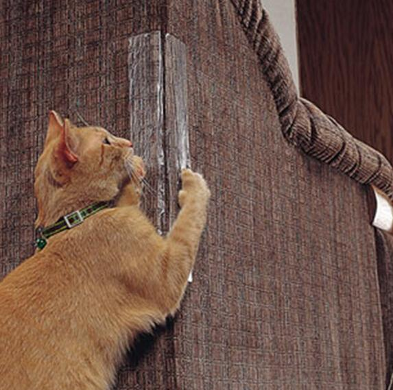 Cat Scratching Guard Pet Scratchers Protective Stickers Self-Adhesive Cat Scratching Paster Furniture Protector Guard Pet Toy Claw Care