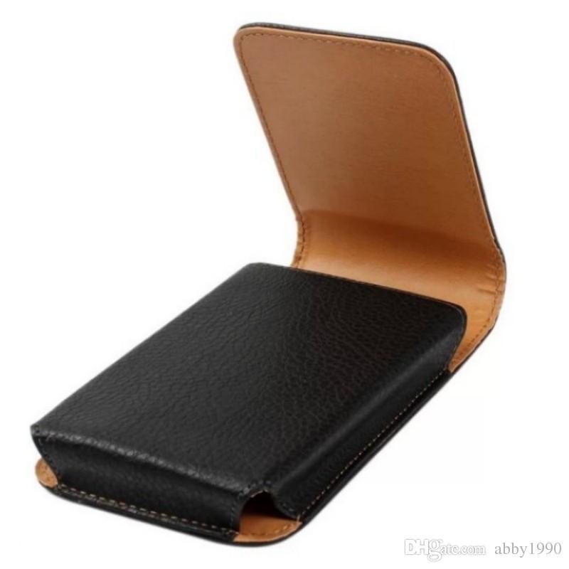 Cinto Universal Clipe de Couro PU Cintura Titular Bolsa Flip Case para Vernee T3 Pro / M5