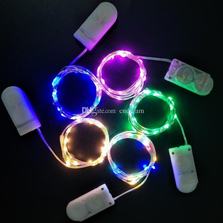 Luci LED luce della stringa Linee Pulsante festa di compleanno della batteria Natale di cerimonia nuziale del partito della lampada della decorazione di trasporto di goccia