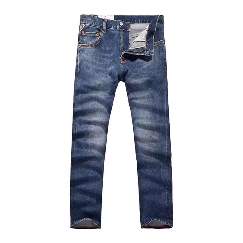 Vomint 2018 Neue Marke Männer Casual Jeans Elastizität Baumwollgewebe Gespleißt Details Dark Wash Qualität Jeans für Männer GY7079