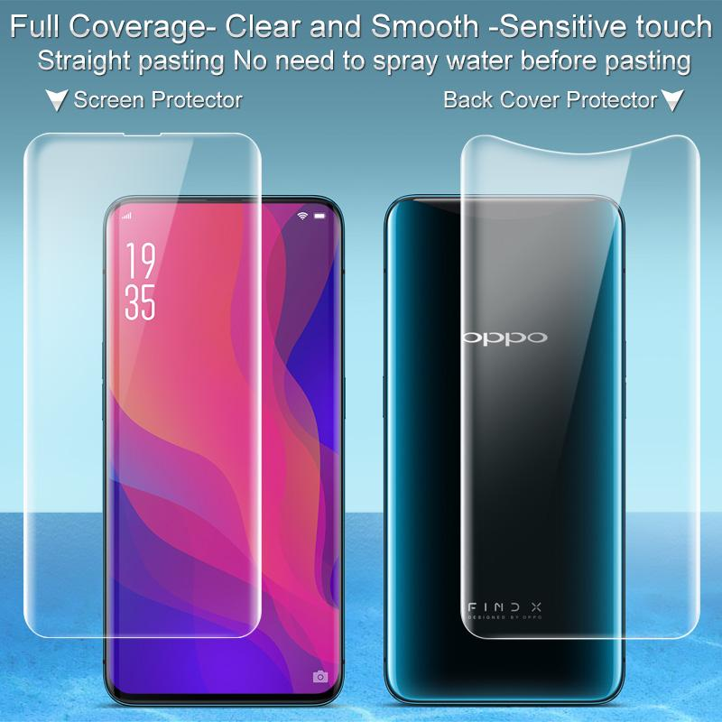 salvare a2e93 85940 OPPO Find X Screen Protector IMAK 3D Full Cover Front + Back Soft Hydrogel  Screen Protector For OPPO Find X The Best Screen Protector Cell Phone ...