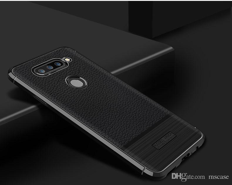 Für lg v30 v30s g7 plus v35 thinq leder haut tpu stoßfest pinsel rückseitige abdeckung telefon case tasche anti schweiß herbst fingerprint