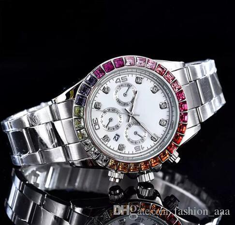 relogio masculino 다이아몬드 mens 시계 골드 드레스 손목 시계 블루 다이얼 기계식 시계 가격 남성 시계 스테인레스 스틸