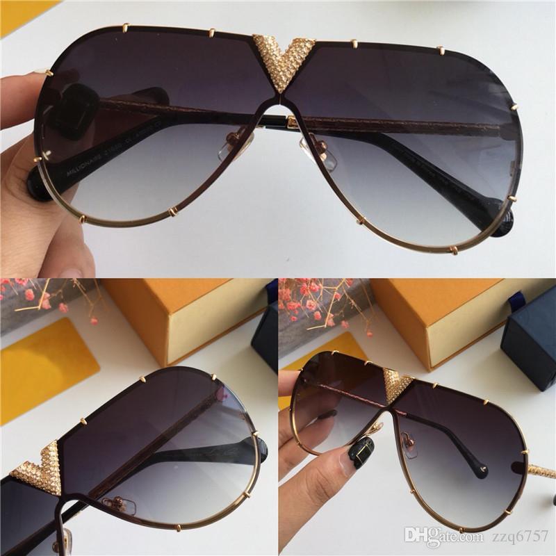 UV400 Handmade 1060 Pilotes Protection Framed Soleil Exquis Soleil Top Quality Design Cadre de lunettes de soleil Style Diamond Ifrqp
