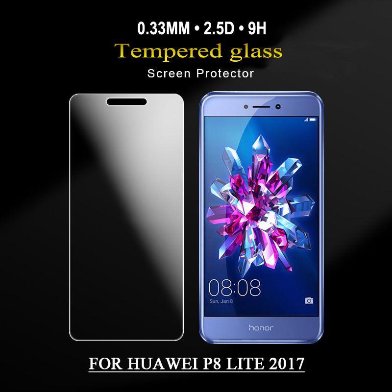 Protecteur d'écran en verre trempé de qualité supérieure pour HUAWEI P6 / P7 / P8 / P9 film de protection durci Livraison gratuite avec emballage de détail