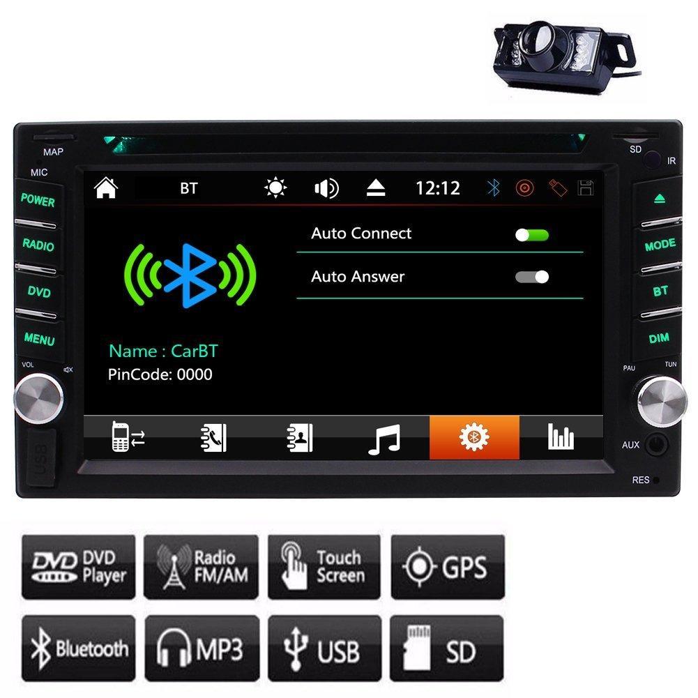 GPS EinCar سيارة ستريو صوتية راديو راديو صوتي جهاز كمبيوتر شخصي 1080 بكسل في اندفاعة سيارة مشغل دي في دي مزدوج الدين مضخم صوت AMP + 8GB Map Card