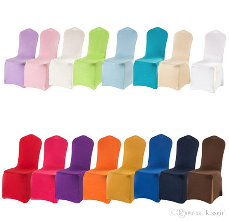 Stretch Party Wedding Chair Covers for Weddings Lycra Dining Kitchen Chair Cover for Weddings Events Banquet Party Decoration
