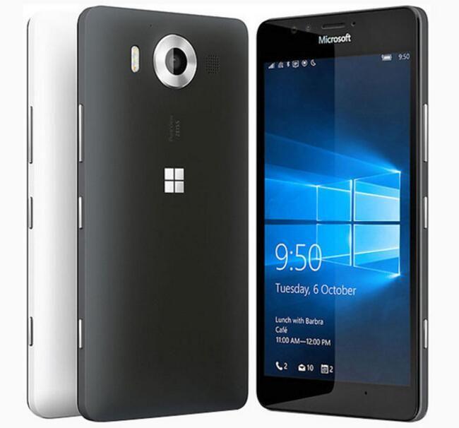 مجدد الأصل نوكيا Lumia 950 الهاتف الخليوي مقفلة Hexa كور 5.2 بوصة رام 3GB روم 32GB 20MP واحدة / مزدوجة 4G LTE